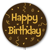 Magnetic Lollipop Mold - Happy Birthday - Gold